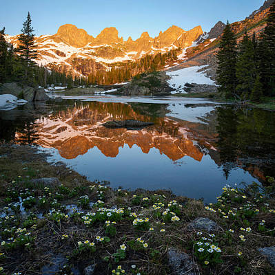 Gore Range Photograph - Colorado Reflection - Willow Lakes by Aaron Spong