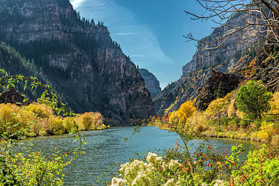 Photograph - Colorado River And Glenwood Canyon by Jemmy Archer