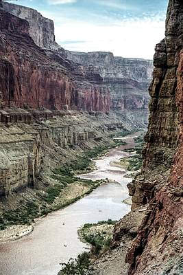 Colorado River And The East Rim Grand Canyon National Park Art Print