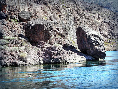 Photograph - Colorado River - Black Canyon  - Falling Rocks by Leslie Montgomery