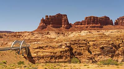 Photograph - Colorado River Bridge Glen Canyon National Recreation Area by Lawrence S Richardson Jr