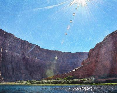 Colorado River Cliffs Watercolor Art Print by Kathleen Prince