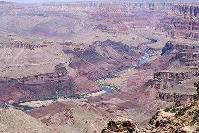 Photograph - Colorado River Flowing Though Grand Canyon - 3 by Christy Pooschke