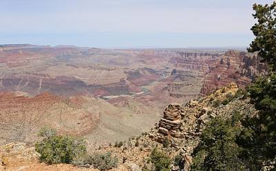 Photograph - Colorado River Flowing Though Grand Canyon  by Christy Pooschke