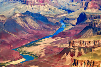 Photograph - Colorado River In Grand Canyon by Lou  Novick