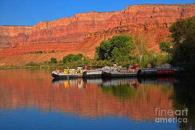 Photograph - Colorado River Rafts by Adam Jewell