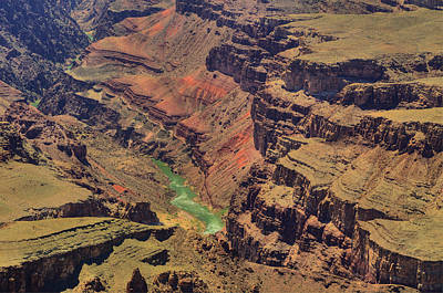 Photograph - Colorado River Snaking Thruogh Grand Canyon by Don Wolf