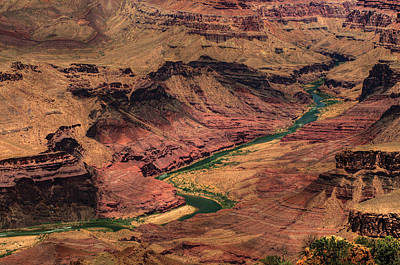 Photograph - Colorado River Through Grand Canyon Ca Canyon by Don Wolf