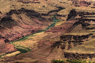Photograph - Colorado River Through Grand Canyon by Don Wolf