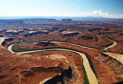 Photograph - Colorado River Winds Through Canyonlands   by Jean Clark