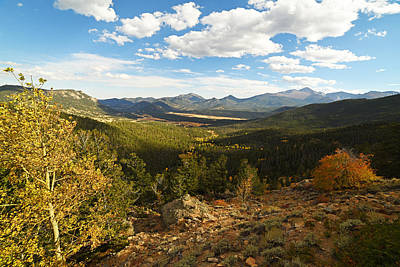 Photograph - Colorado Rockies National Park Fall Foliage Forest Valley by Toby McGuire