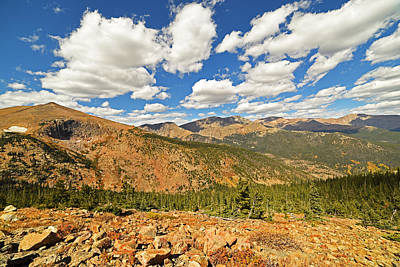 Photograph - Colorado Rockies National Park Mountains by Toby McGuire