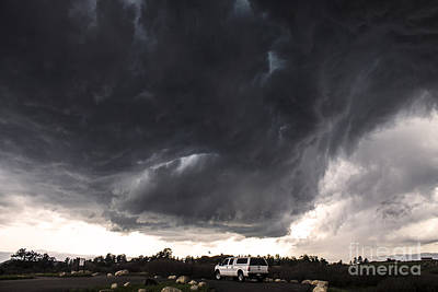 Extreme Weather Painting - Colorado Rockies Supercell by Francis Lavigne-Theriault