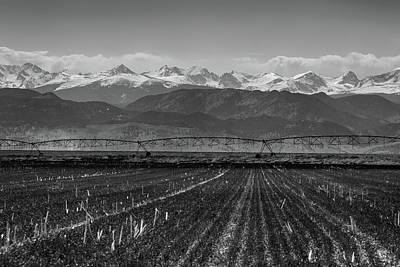 Colorado Rocky Mountain Agriculture View In Black And White Print by James BO Insogna