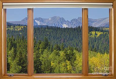 Bo Insogna Photograph - Colorado Rocky Mountain Continental Divide Autumn Window View by James BO  Insogna