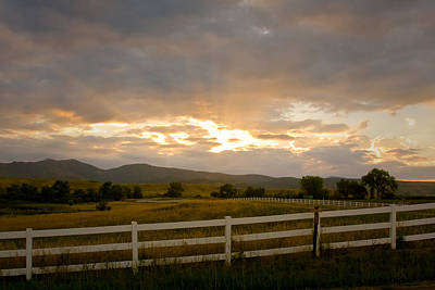 Colorado Rocky Mountain Country Sunset Art Print by James BO  Insogna