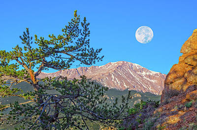 Colorado Rocky Mountain High, Just A Breath Away From Heaven Art Print