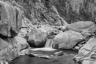 Photograph - Colorado Rocky Mountain Stream Black And White by James BO  Insogna