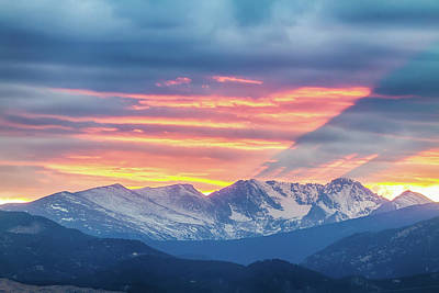 Photograph - Colorado Rocky Mountain Sunset Waves Of Light Part 1 by James BO Insogna