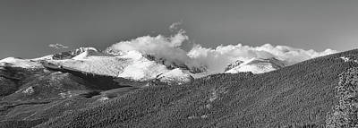 Photograph - Colorado Rocky Mountains National Park Panorama Bw by James BO Insogna