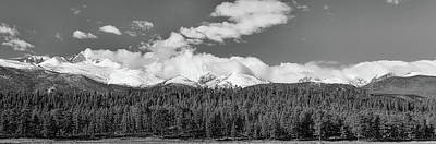 Photograph - Colorado, Rocky Mountains Panorama Views Bw by James BO Insogna