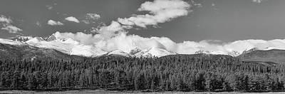 Colorado, Rocky Mountains Panorama Views Bw Art Print by James BO Insogna