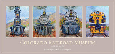 Colorado Rr Museum Quadtych Art Print by Gary Symington