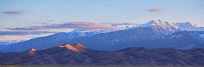 Photograph - Colorado Sand Dunes First Light Sunrise Panorama by James BO Insogna