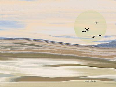 Layered Digital Painting - Colorado Sand Dunes by Lenore Senior