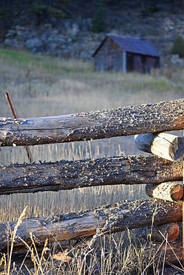 Photograph - Colorado Shack Wooden Fence by Toby McGuire