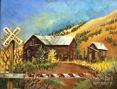 Painting - Colorado Shed by Linda Shackelford