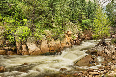Photograph - Colorado South St Vrain Canyon And Creek  by James BO  Insogna