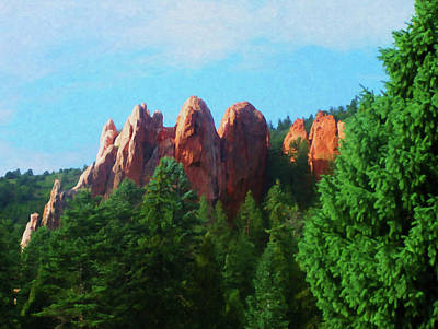 Painting - Colorado Springs Area Digital Oil #08 by Chris Flees