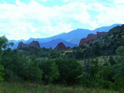 Painting - Colorado Springs Area Digital Oil #44 by Chris Flees