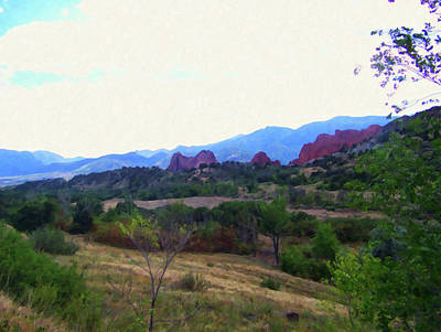 Painting - Colorado Springs Area Digital Oil #45 by Chris Flees