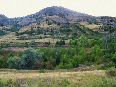 Painting - Colorado Springs Area Digital Oil #46 by Chris Flees