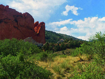 Painting - Colorado Springs Area Digital Oil #52 by Chris Flees
