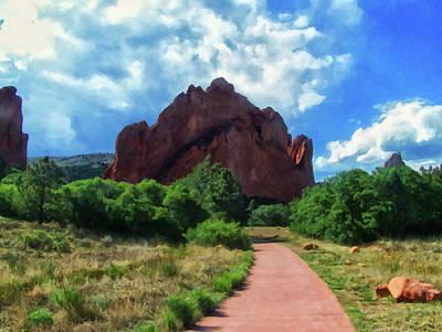 Painting - Colorado Springs Area Digital Oil #54 by Chris Flees