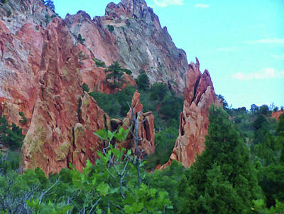 Painting - Colorado Springs Area Digital Oil #56 by Chris Flees