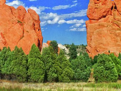 Painting - Colorado Springs Area Digital Oil #57 by Chris Flees
