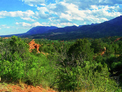 Painting - Colorado Springs Area Digital Oil #63 by Chris Flees