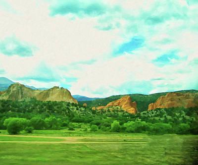 Painting - Colorado Springs Area Digital Oil #69 by Chris Flees