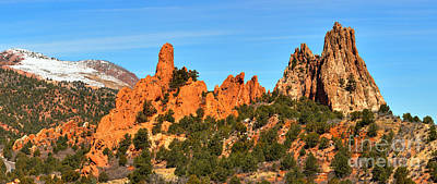 Art Print featuring the photograph Colorado Springs Garden Of The Gods High Point Panorama by Adam Jewell