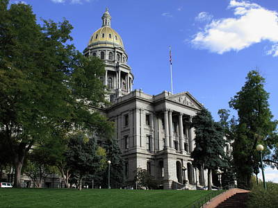 Photograph - Colorado State Capitol Building by Frank Romeo