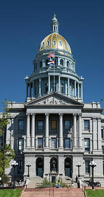 Capitol Building Wall Art - Photograph - Colorado State Capitol by Steve Gadomski