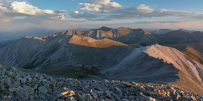 Photograph - Colorado Summit Panorama - Mt. Antero by Aaron Spong