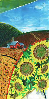 Painting - Colorado Sunflowers by David Ralph