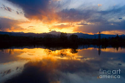 Photograph - Colorado Sunset Reflections by James BO Insogna