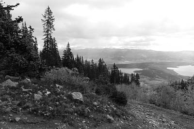 Photograph - Colorado Twin Lakes Black And White Landscape by Cascade Colors