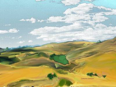 Mountain Valley Mixed Media - Colorado Vista by Lenore Senior